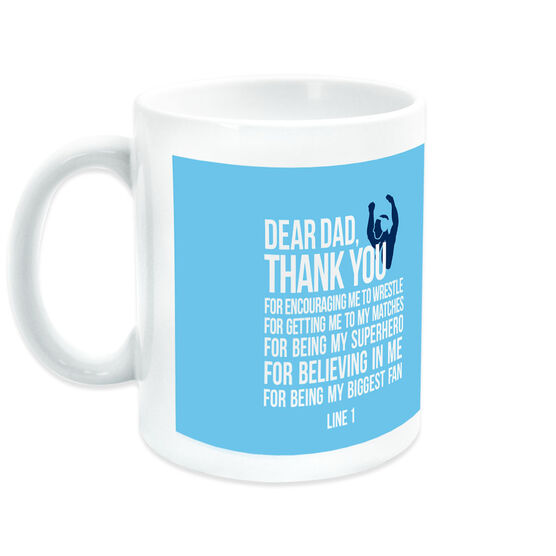 Wrestling Coffee Mug Dear Dad