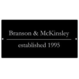 """Personalized Indoor/Outdoor Sign (8"""" x 16"""") - Associates Business Sign"""