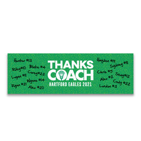 "Guys Lacrosse 12.5"" X 4"" Removable Wall Tile - Thanks Coach (Autograph)"