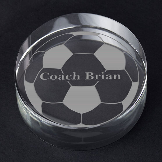 Soccer Personalized Engraved Crystal Gift - Custom Ball