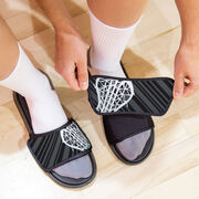 Girls Lacrosse Repwell® Slide Sandals - Stick Reflected
