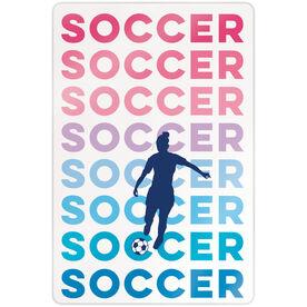 """Soccer 18"""" X 12"""" Aluminum Room Sign - Fade"""