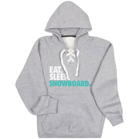 Skiing & Snowboarding Sport Lace Sweatshirt Eat. Sleep. Snowboard.