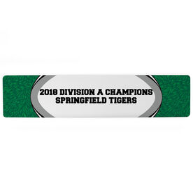"Rugby Aluminum Room Sign - Your Text Rugby (4""x18"")"