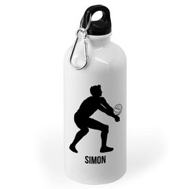 Volleyball 20 oz. Stainless Steel Water Bottle - Volleyball Male Player Silhouette