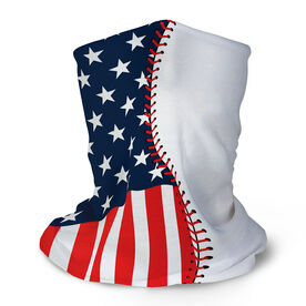 Baseball Multifunctional Headwear - American Flag Ball RokBAND