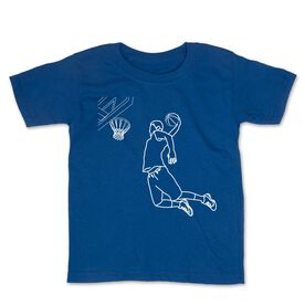Basketball Toddler Short Sleeve Tee - Basketball Player Sketch