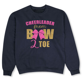 Cheerleading Crew Neck Sweatshirt - Cheerleader From Bow to Toe