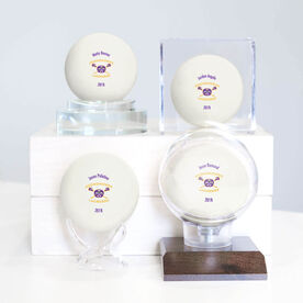 Lacrosse Ball - Personalized Oconomowoc Lacrosse Logo (White)
