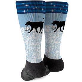 Figure Skating Printed Mid-Calf Socks - Axel The Figure Skating Dog