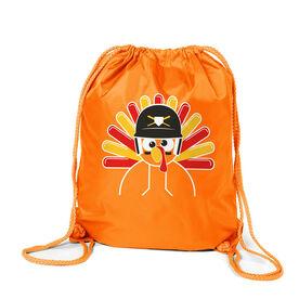Baseball/Softball Sport Pack Cinch Sack - Goofy Turkey Player