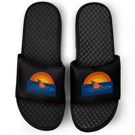 Fly Fishing Black Slide Sandals - Redfish Finning