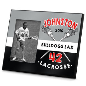 Lacrosse Personalized Photo Frame Personalized 2 Tier Crossed Stick