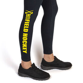 Field Hockey Leggings Eat Sleep Field Hockey