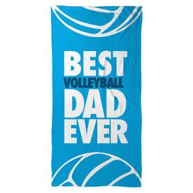 Volleyball Beach Towel Best Dad Ever