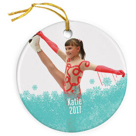 Figure Skating Porcelain Ornament Your Photo Here