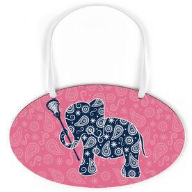 Girls Lacrosse Oval Sign - Lax Elephant