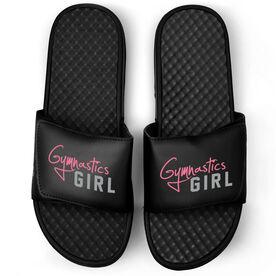 Gymnastics Black Slide Sandals - Gymnastics Girl