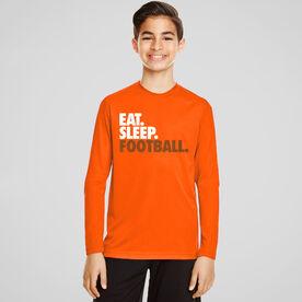 Football Long Sleeve Performance Tee - Eat. Sleep. Football.
