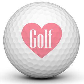 Pink Heart Golf Balls