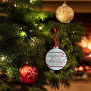 Hockey Round Ceramic Ornament - Jingle All the Way