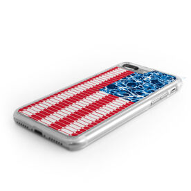 Swimming iPhone® Case - American Flag