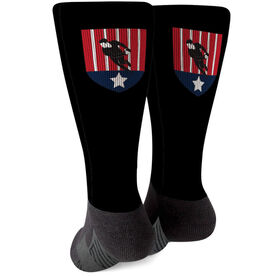 Rugby Printed Mid-Calf Socks - Your Logo