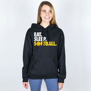 Softball Hooded Sweatshirt - Eat. Sleep. Softball.