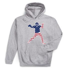 Football Hooded Sweatshirt - Football Stars and Stripes Player