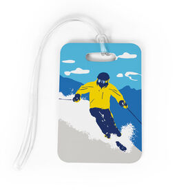 Skiing Bag/Luggage Tag - Ski Hard