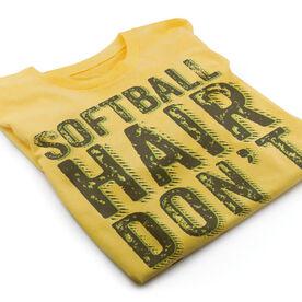 Vintage Softball T-Shirt - Softball Hair Don't Care