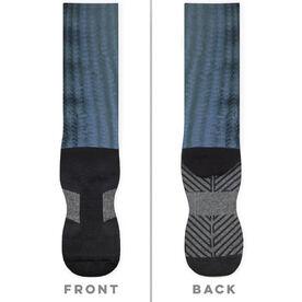 Fly Fishing Printed Mid-Calf Socks - Bonefish