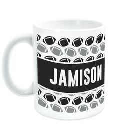Football Coffee Mug Personalized Pattern