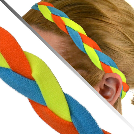 GripBand Headband - Orange Yellow Teal