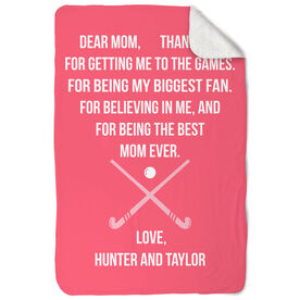 Field Hockey Sherpa Fleece Blanket - Dear Mom Heart