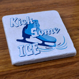 Kick Some Ice - Stone Coaster