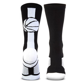 Basketball Woven Mid-Calf Socks - Superelite (Black/White)