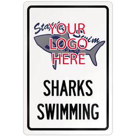 "Swimming 18"" X 12"" Aluminum Room Sign Swimming Custom Logo With Team Name"