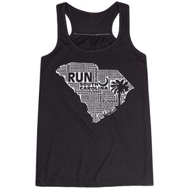 Flowy Racerback Tank Top - South Carolina