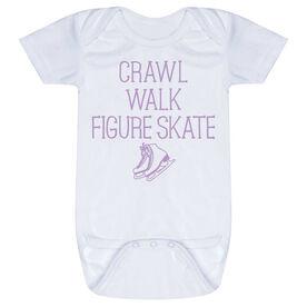 Figure Skating Baby One-Piece - Crawl Walk Figure Skate