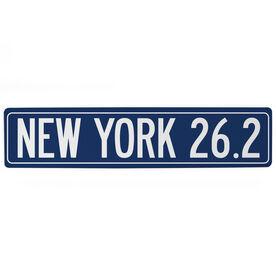 "Running Aluminum Room Sign - New York 26.2 (4""x18"")"