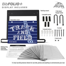 BibFOLIO+™ Race Bib and Medal Display Track and Field