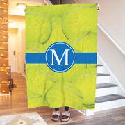 Tennis Premium Blanket - Personalized Ball Background with Monogram