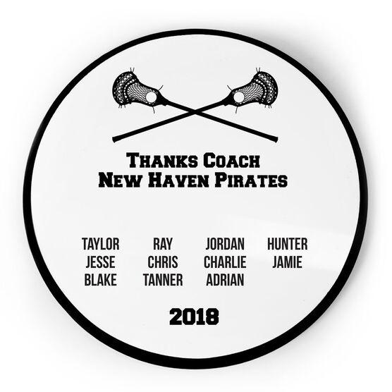 Guys Lacrosse Circle Plaque - Team Roster