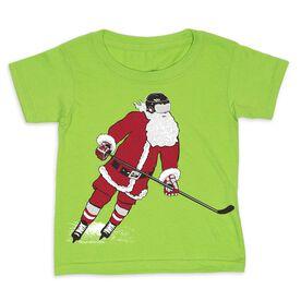 Hockey Toddler Short Sleeve Tee - Slap Shot Santa