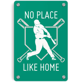 Baseball Metal Wall Art Panel - No Place Like Home