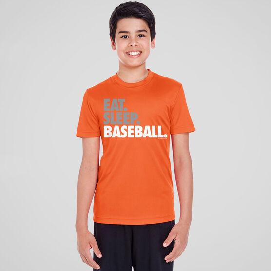Baseball Short Sleeve Performance Tee - Eat Sleep Baseball Bold Text