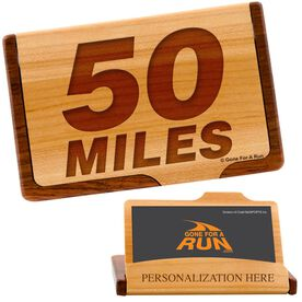 50 Miles Maple Business Card/Credit Card Holder