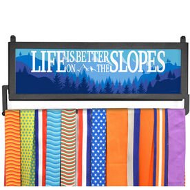 AthletesWALL Medal Display - Life Is Better On The Slopes