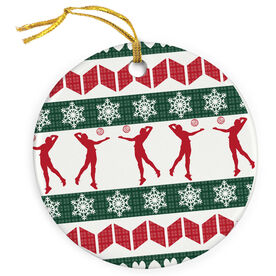 Volleyball Porcelain Ornament Ugly Sweater